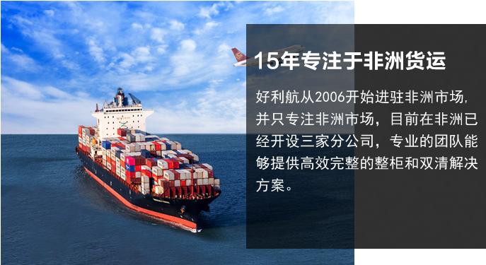 15年专注非洲货运